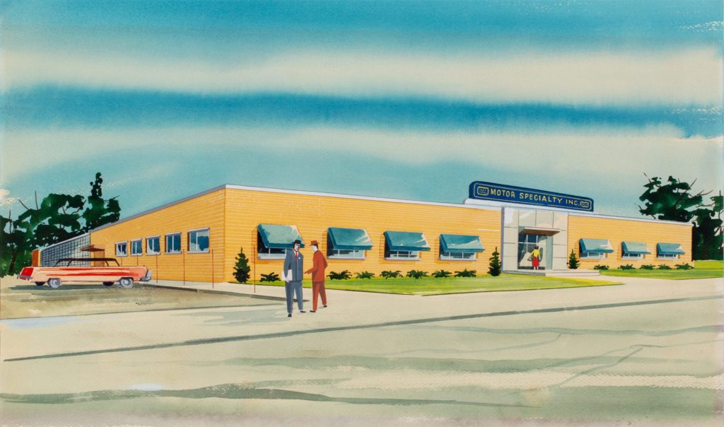 Watercolor Of Motor Specialty Facility