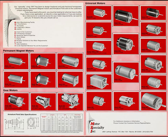 Small Motor Catalog